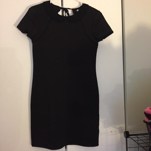 Cooperative Dresses & Skirts - Peter Pan Collar Little Black Dress w/Back Cutout
